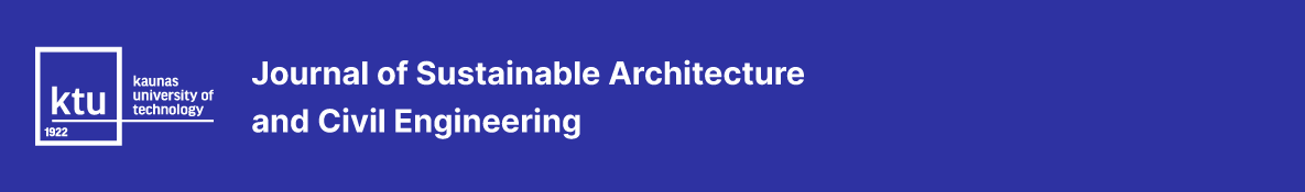 Journal of Sustainable Architecture and Civil Engineering